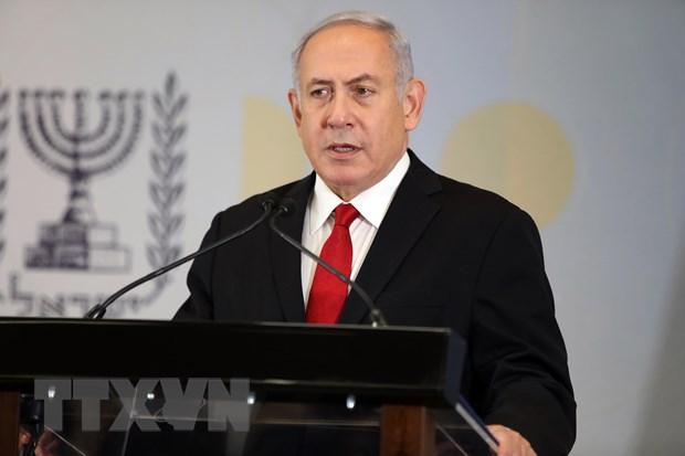 Thu tuong Netanyahu tham so chi huy quan doi gan Dai Gaza hinh anh 1