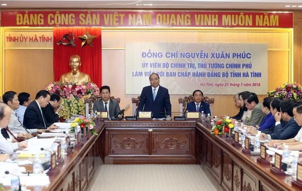 Thu tuong: Ha Tinh can phan dau som tu chu ngan sach hinh anh 1