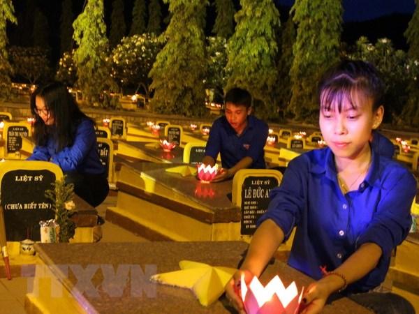 Xuc dong le dang huong tuong niem cac Anh hung liet sy tai Lao hinh anh 1