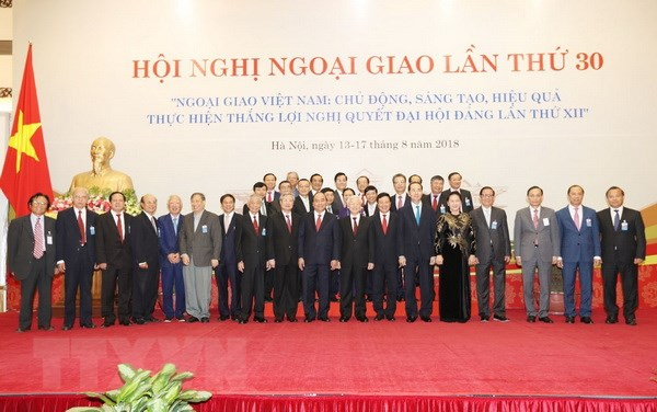 Tong Bi thu Nguyen Phu Trong du khai mac Hoi nghi Ngoai giao lan 30 hinh anh 3