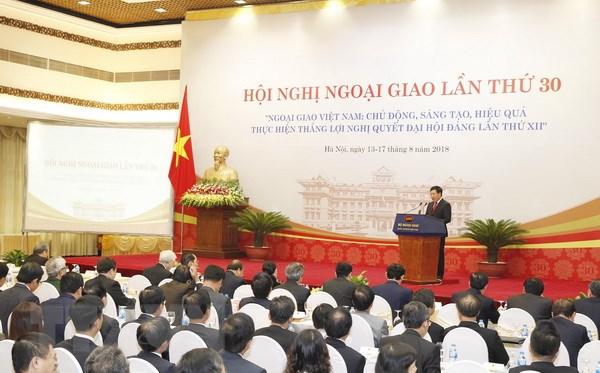 Tong Bi thu Nguyen Phu Trong du khai mac Hoi nghi Ngoai giao lan 30 hinh anh 2