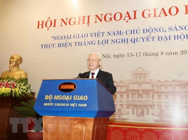 Tong Bi thu Nguyen Phu Trong du khai mac Hoi nghi Ngoai giao lan 30 hinh anh 1