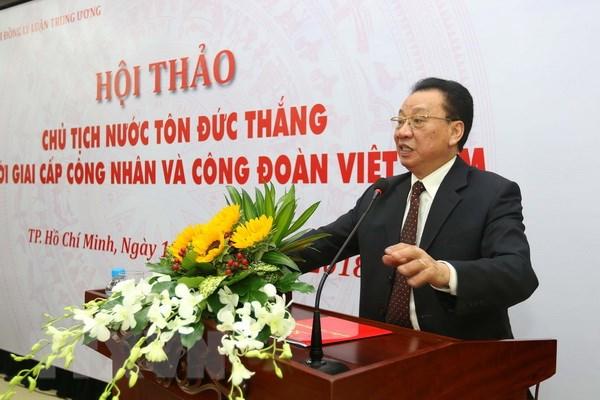 Chu tich Ton Duc Thang voi giai cap cong nhan va Cong doan Viet Nam hinh anh 2