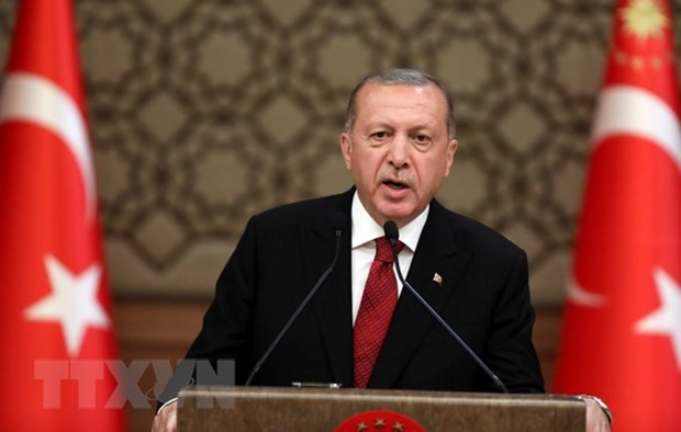 Tong thong Erdogan tiep tuc duoc bau lam chu tich AKP cam quyen hinh anh 1