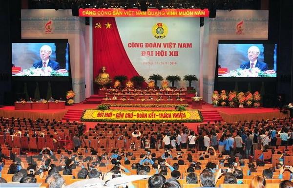 Phien trong the Dai hoi Cong doan Viet Nam lan thu XII hinh anh 1