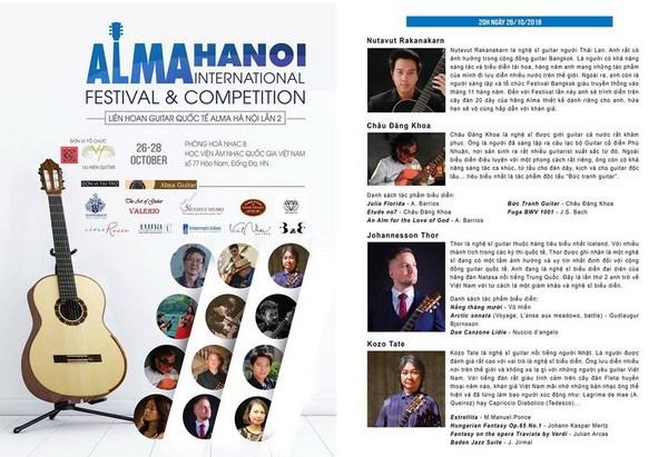 Festival guitar quoc te Alma Ha Noi se dien ra vao cuoi thang 10 hinh anh 1
