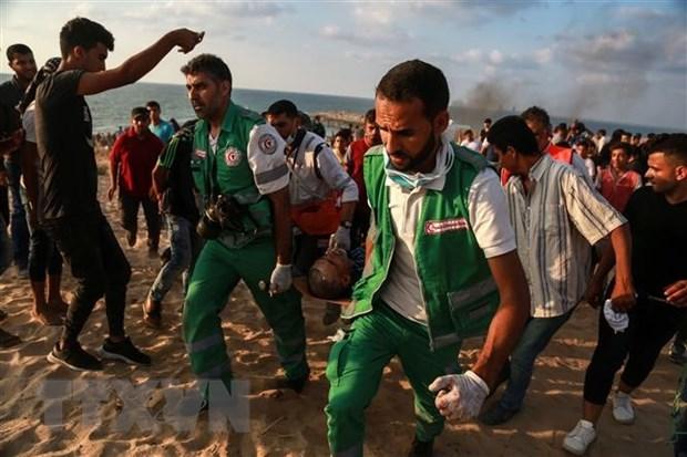 Dung do voi binh si Israel o Bo Tay, 5 nguoi Palestine thiet mang hinh anh 1