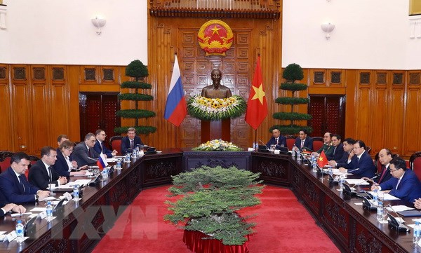 Thu tuong Nguyen Xuan Phuc hoi dam voi Thu tuong Nga Medvedev hinh anh 2