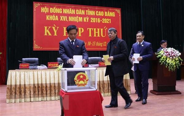 Cao Bang: Ket qua lay phieu tin nhiem 26 chuc danh do HDND tinh bau hinh anh 1