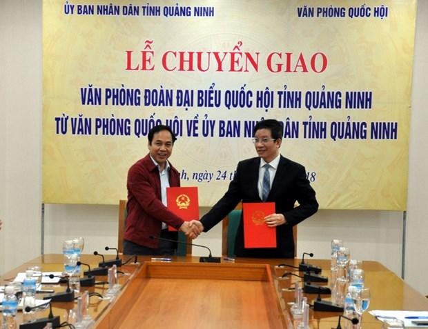 Quang Ninh: Chuyen giao Van phong Doan Dai bieu QH tinh ve UBND hinh anh 1