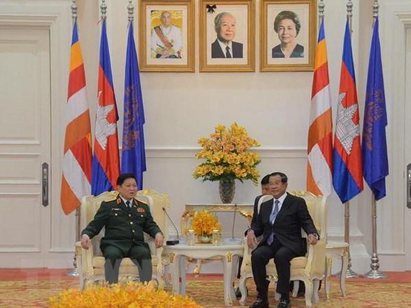 Hop tac quoc phong luon la tru cot trong quan he Viet Nam-Campuchia hinh anh 2