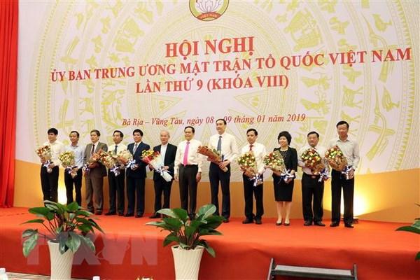 Be mac Hoi nghi lan thu 9 Uy ban Trung uong Mat tran To quoc hinh anh 1