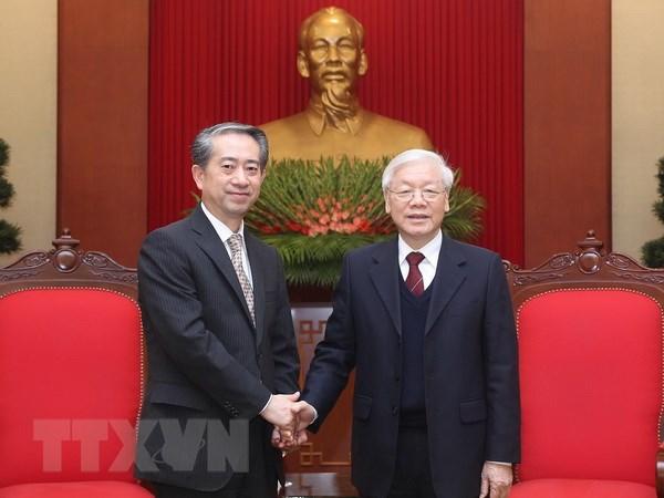 Tong Bi thu, Chu tich nuoc Nguyen Phu Trong tiep Dai su Trung Quoc hinh anh 1