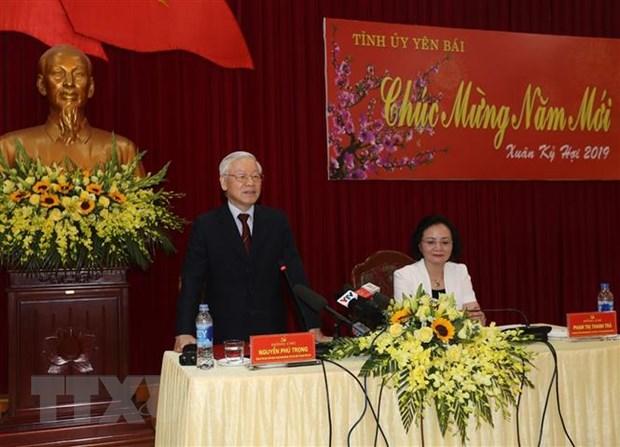 Tong Bi thu, Chu tich nuoc phat dong Tet trong cay Xuan Ky Hoi 2019 hinh anh 5