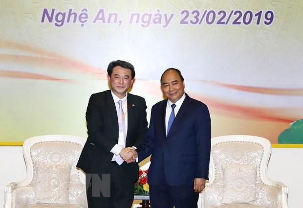 Thu tuong Nguyen Xuan Phuc tiep cac nha dau tu tai Nghe An hinh anh 1