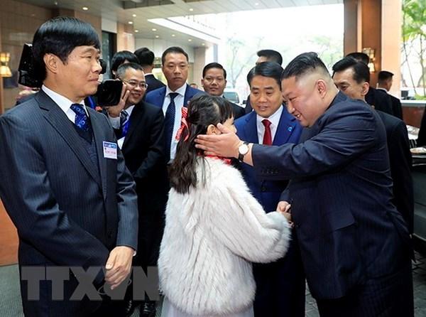 Chu tich Trieu Tien Kim Jong-un da toi Khach san Melia Ha Noi hinh anh 1