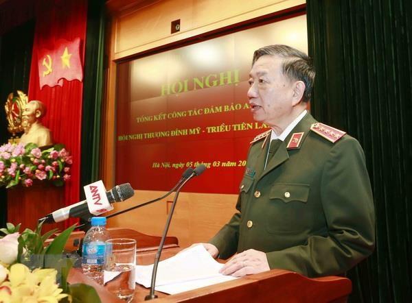 Bo Cong an tong ket cong tac phuc vu Thuong dinh Hoa Ky-Trieu Tien hinh anh 1