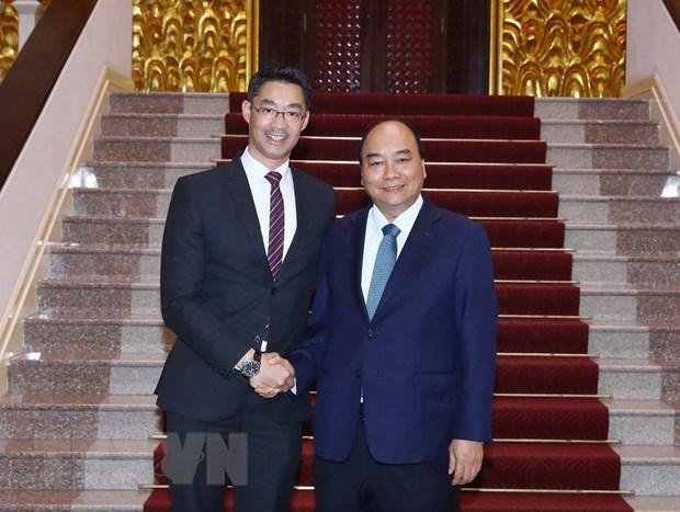 Thủ tướng Nguyễn Xuân Phúc tiếp chuyên gia kinh tế Philipp Rösler