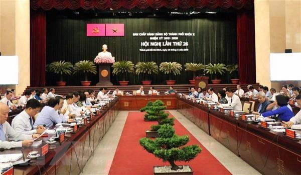 Hoi nghi lan thu 26 Ban Chap hanh Dang bo Thanh pho Ho Chi Minh hinh anh 1