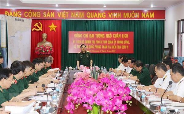 Dai tuong Ngo Xuan Lich lam viec tai Vung 4 Hai quan hinh anh 1