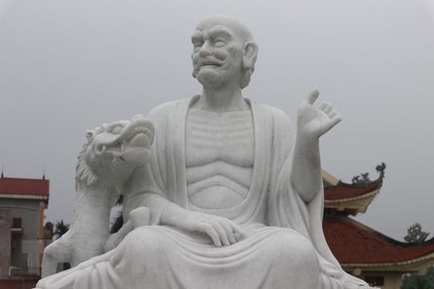 Ha Noi: 16 pho tuong La Han tai chua Khanh Long bi pha hoai hinh anh 1