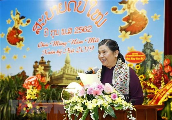 Dai su quan Lao to chuc don Tet co truyen Bunpimay nam 2019 tai Ha Noi hinh anh 2