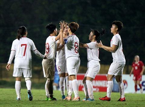 U19 nu Viet Nam gianh ve vao vong chung ket U19 nu chau A 2019 hinh anh 1