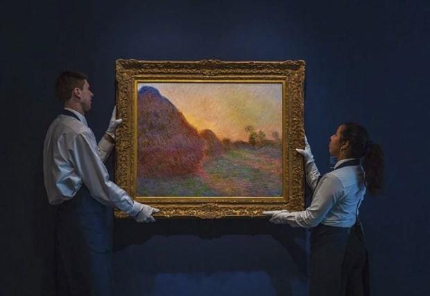 Buc hoa ''Dong rom'' cua Claude Monet duoc ban voi gia ky luc hinh anh 1