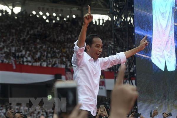 Bau cu Indonesia: Tong thong Joko Widodo tuyen bo chien thang hinh anh 1