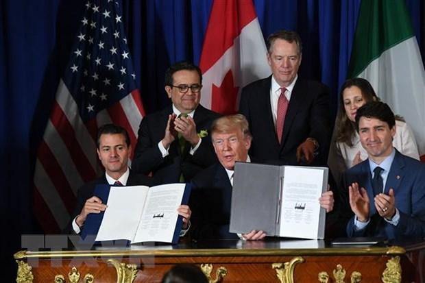 My, Mexico va Canada khoi dong tien trinh phe chuan NAFTA moi hinh anh 1