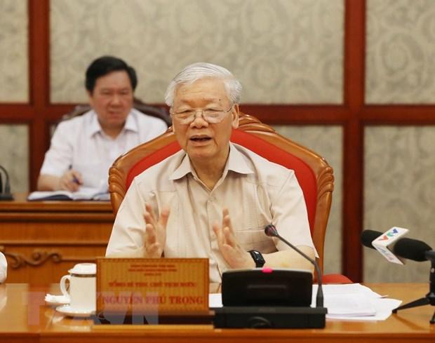 Tong Bi thu: Chuan bi va to chuc that tot dai hoi dang bo cac cap hinh anh 1