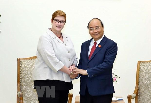 Thu tuong Nguyen Xuan Phuc tiep Bo truong Ngoai giao Australia hinh anh 1