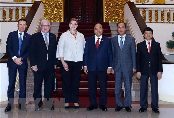 Thu tuong Nguyen Xuan Phuc tiep Bo truong Ngoai giao Australia hinh anh 2