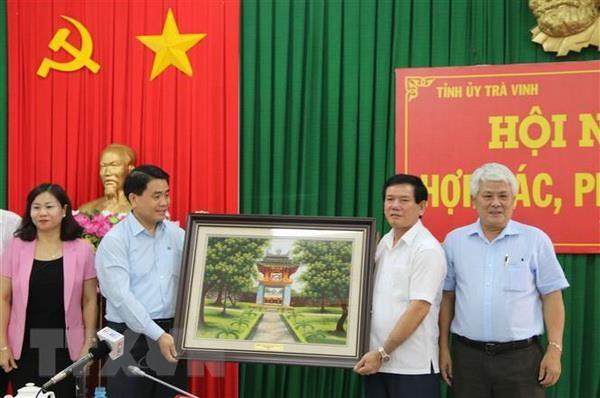Tra Vinh va thu do Ha Noi xay dung chuong trinh hop tac phat trien hinh anh 2