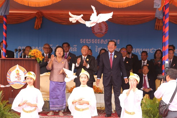 Dang Nhan dan Campuchia long trong le ky niem 68 nam thanh lap hinh anh 1