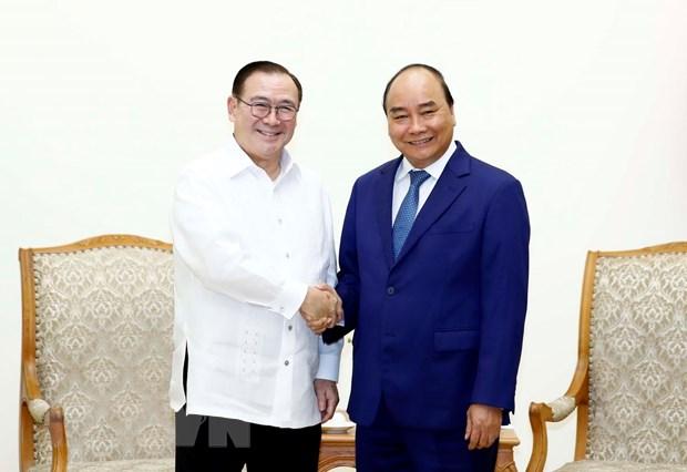 Thu tuong Nguyen Xuan Phuc tiep Bo truong Ngoai giao Philippines hinh anh 1