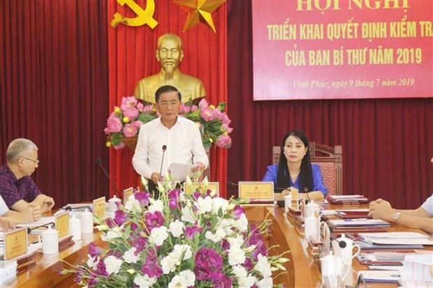 Uy ban Kiem tra Trung uong lam viec voi Thuong vu Tinh uy Vinh Phuc hinh anh 1