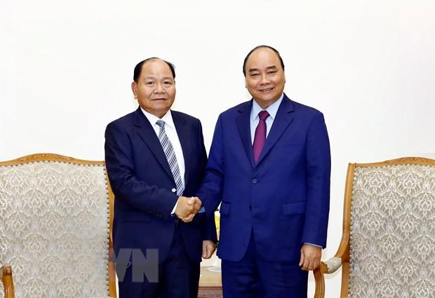 Thu tuong Nguyen Xuan Phuc tiep Bo truong Noi vu Lao hinh anh 1