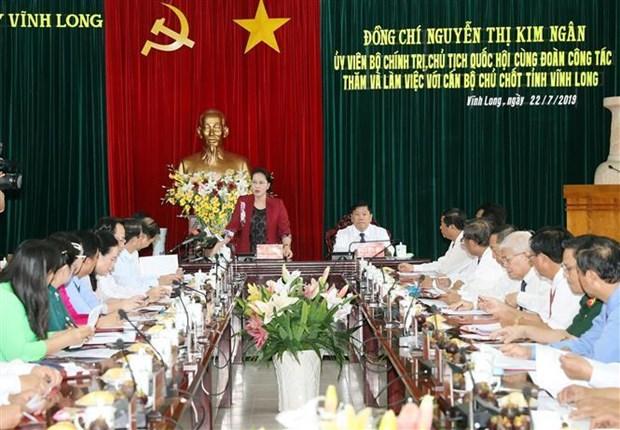 Chu tich Quoc hoi: Vinh Long can co cau lai san xuat nong nghiep hinh anh 2