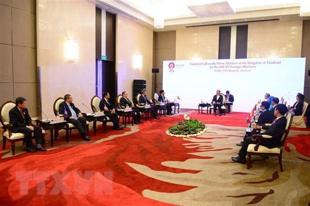Cac Bo truong Ngoai giao ASEAN chao xa giao Thu tuong Thai Lan hinh anh 2