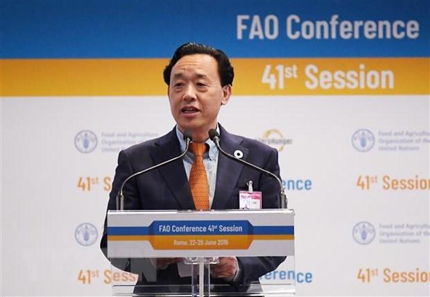 Thu truong Bo Nong nghiep Trung Quoc lam Tong giam doc moi cua FAO hinh anh 1