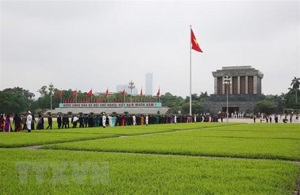 Tiep tuc to chuc Le vieng Chu tich Ho Chi Minh tu ngay 15/8 hinh anh 1