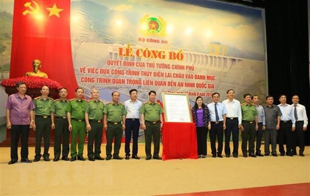 Le cong bo Thuy dien Lai Chau la cong trinh quan trong den an ninh hinh anh 2