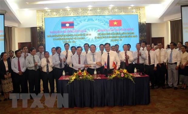 Hop tac phat trien giua ba tinh Quang Tri-Savannakhet-Salavan hinh anh 1