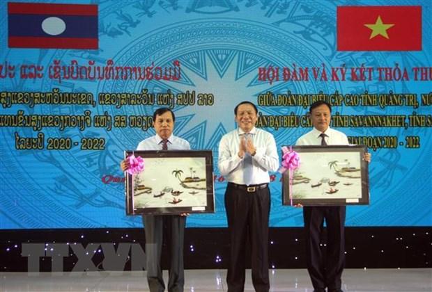 Hop tac phat trien giua ba tinh Quang Tri-Savannakhet-Salavan hinh anh 2