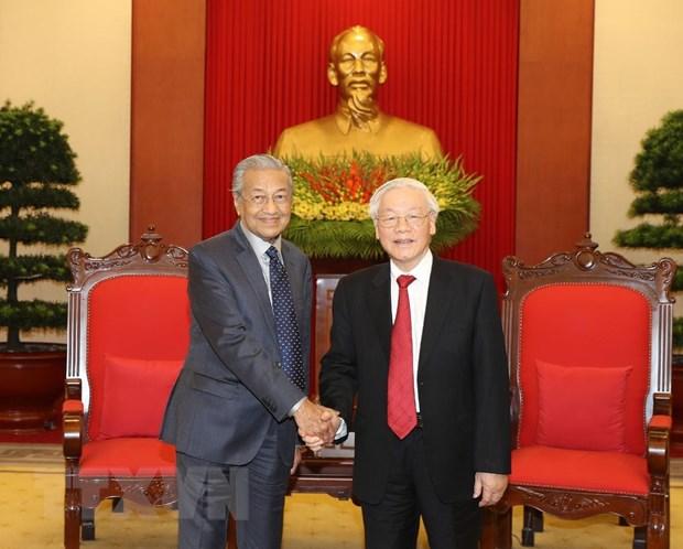 Tong Bi thu, Chu tich nuoc Nguyen Phu Trong tiep Thu tuong Malaysia hinh anh 1
