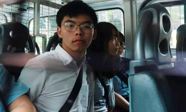 Thu linh bieu tinh o Hong Kong Joshua Wong bi bat giu hinh anh 1