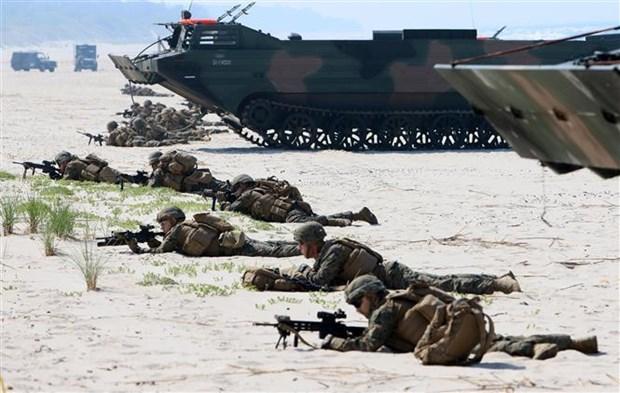 Thuong vien My phe chuan goi ho tro quan su cho Ukraine va vung Baltic hinh anh 1