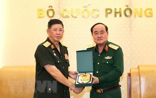 Hop tac xay dung tiem luc hau can giua quan doi Viet Nam va Lao hinh anh 1
