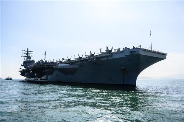 Tàu sân bay USS Ronald Reagan (CVN-76). Ảnh: AFP/TTXVN